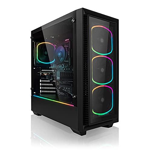 Megaport High End Gaming PC AMD Ryzen 5 5600X 6X 3.7 GHz • Nvidia GeForce RTX 3060 12GB • 1TB M.2 SSD • 16GB 3000 MHz DDR4 • Windows 10 • WLAN