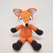 Crochê raposa laranja