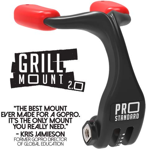 Pro Standard Grill Mount 2.0 – The Best Mouth Mount for GoPro Camera (Black/Red)
