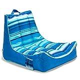 Big Joe Meash Captain's Chair Float, Blurred Stripe Blue