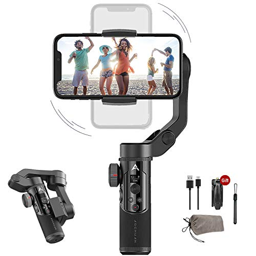 3-Axis Handheld Gimbal Stabilizer for iOS Android Smartphone Foldable Small Pocket Size 280g Load Max AOCHUAN Smart XR