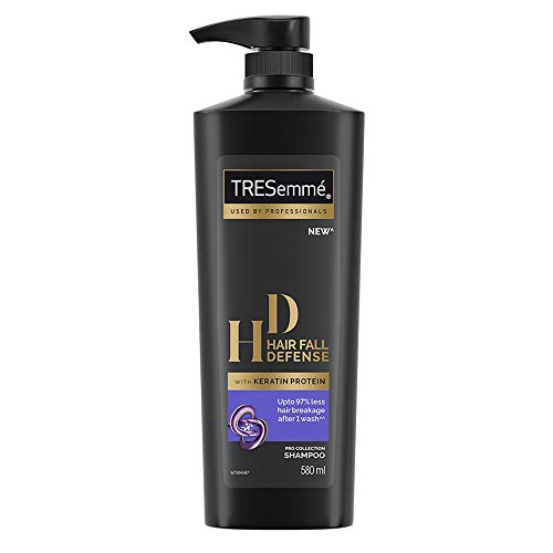 Tresemme Hair Fall Defence Shampoo, For Strong Hair, With Keratin Protein, Prevent Hair Fall due to Breakage, 580 ml