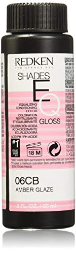 Redken Shades EQ Color Gloss Hair Color for Unisex, 06CB Amber Glaze, 2 Ounce