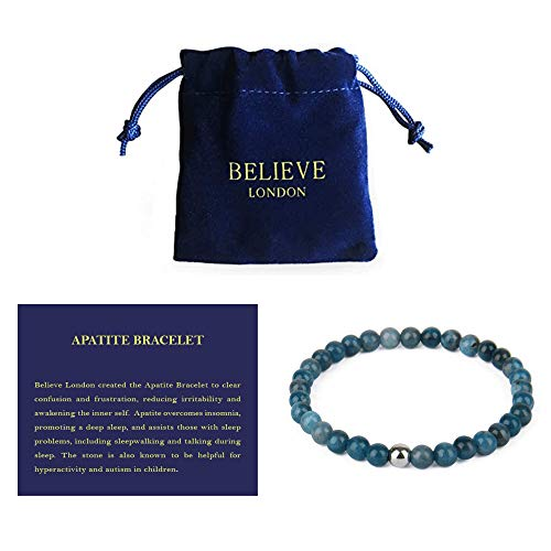 Believe London Apatite Gemstone Chakra Healing Bracelet...