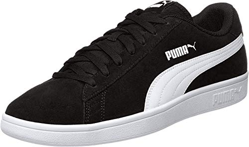 PUMA SMASH V2, Sneakers Unisex-Adulto, Nero BLACK WHITE SILVER, 45 EU
