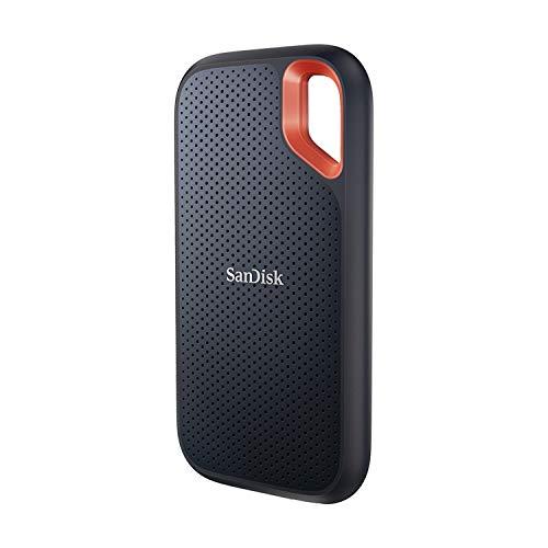 SanDisk Extreme 1 To NVMe SSD, disque externe, USB-C, jusqu'à 1050Mo/s en vitesse de lecture et 1000Mo/s en vitesse d'écriture, résistant à l'eau et à la poussière