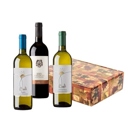 Cesto Natalizio - Confezione Vini Liguria con Rossese D.O.C. di Dolceacqua, Vermentino e Pigato Riviera Ligure di Ponente D.O.C.