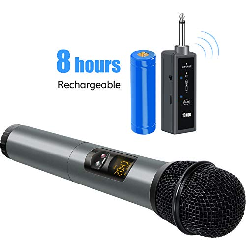 TONOR UHF Wireless Microphone Handheld Mic with Bluetooth Receiver 1/4 Output for Conference/Weddings/Church/Stage/Party/Karaoke, 65ft
