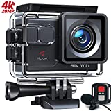 Victure AC700 4K 20MP Action Camera External Microphone Remote Control WebCam PC Camera, 40M Underwater Recording Camera, Sports Video Cam, 2 Batteries and Mounting Accessories Kit Included.