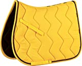 Equi-Theme/Equit'm Tapis de Selle 204610 , Mixte, 204610, Yellow/Grey Braid, Taille Unique