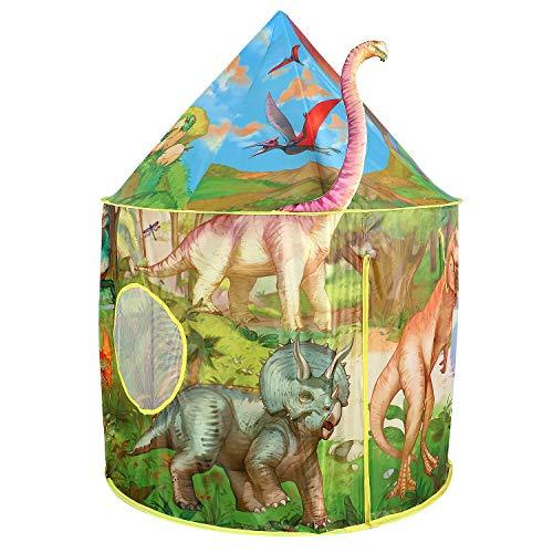 Tacobear Kinderspielzelt Junge Dinosaurier Spielzelt für Kinder Pop up Spielzelt Tragbare Faltbare Kinderzelt Spielhaus für dinnen und draußen mit Tragetasche