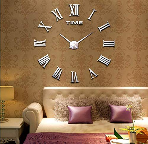 Muhsein orologio da parete moderno fai da te, 3D, specchio acrilico, metallo, senza cornice, da...