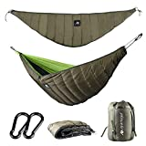Hammock Camping Underquilt Under Quilt UQ Full Length Winter 4 Season Double Person Cold Weather Waterproof Warm Ultralight Blanket Sleeping Bag Bottom Insulation Backpacking Hiking Men Women