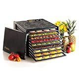Excalibur Food Dehydrator 9-Tray Electric with 26-hour Timer, Automatic Shut Off and Temperature Settings for Faster and Efficient Drying, Black