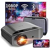 Videoprojecteur Full HD WiFi Bluetooth - Artlii ENERGON 2,Retroprojecteur 1080P natif,Soutiens 4K, Projecteur Compatible iOS, Android Téléphone pour...