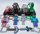 HIMEX BRANDS 10X Minecraft Toy Action Figure Hanger Set