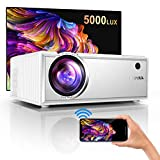 Vidéoprojecteur WiFi, YABER 5000 Lumens Mini Projecteur Soutien 1080P...