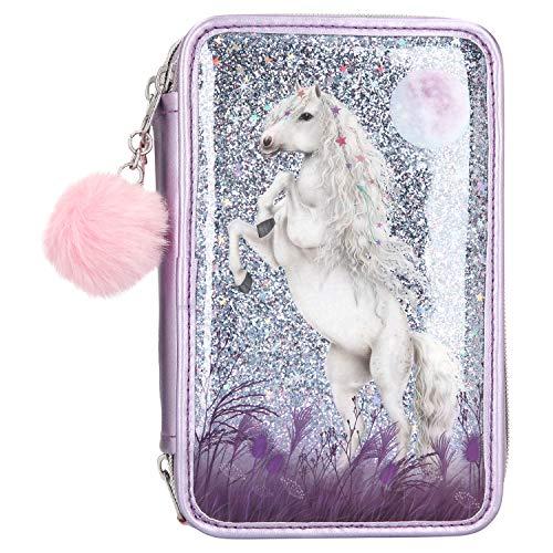 Depesche 10770 - Astuccio con 3 cerniere e matite Lyra, Miss Melody, colore lilla, ca. 7,5 x 13 x 20...