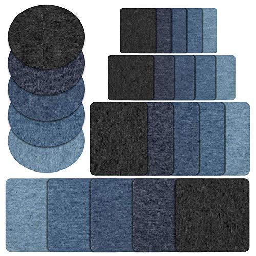 Naler 25-teilig Patches zum aufbügeln in 5 Farben Baumwolle Flicken...