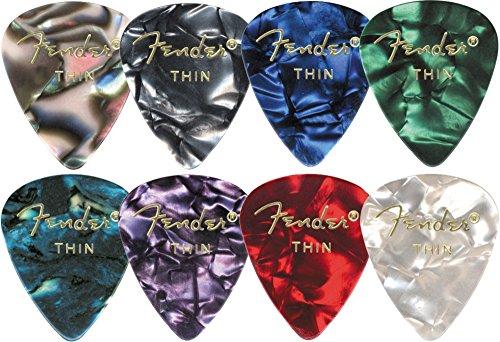 Fender 351 Premium Celluloid Guitar Picks (12-Pack) Medium Blue Moto Medium