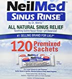 NeilMed Sinus Rinse All Natural Relief Premixed Refill Packets (1 Pack of 100)