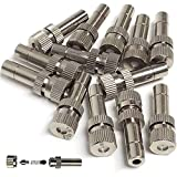 RESNSTAR Misting Nozzles for Outdoor Cooling System 10pcs Mister Nozzle Atomizing Misting Sprayer...