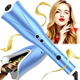 Auto Hair Curler, Automatic Curling Iron Wand with 4 Temp Up to 425℉& Timer, 1' Larger Rotating...