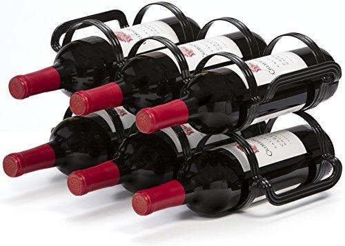 Cremagliera del Vino 6 Bottiglie - Nero