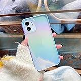 iPhone 12ケース 6.1インチ 対応 オーロラ 可愛い ソフト シンプル 透明 韓国 人気のアイフォ……