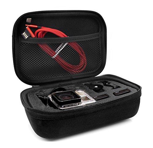 MyGadget Custodia Trasporto per Action Cam & Accessori - Borsa Portatile con Manico - Impermeabile Anti Urto per GoPro Hero 8 7 6 5 4, Xiaomi Yi 4K - Small
