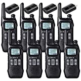Retevis RT16 Walkie-Talkie for Adult Rechargeable FRS Emergency NOAA Alert with FM Radio LCD Flashlight Dual Watch VOX Long Range 2 Way Radio(8 Pack)