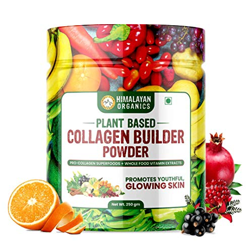 Himalayan Organics Plant Based Collagen Builder Powder for Skin Regeneration, Anti-Aging Beauty & Repair (with Sea Buckthorn, Acai Berry & 20 Wholefood) – 250gm