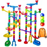 Marble Run Sets for Kids - 142Pcs Marble Race Track Marble Maze Madness Game STEM Building Tower Toy...