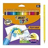 BIC Kids Aquacouleur Crayons de Couleur Aquarellables pour Effet Peinture -...