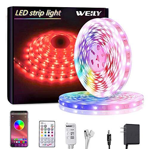 Bluetooth Striscia LED,LED Striscia 10M SMD 5050 RGB Strisce Luminose con Controller Sincronizza con...