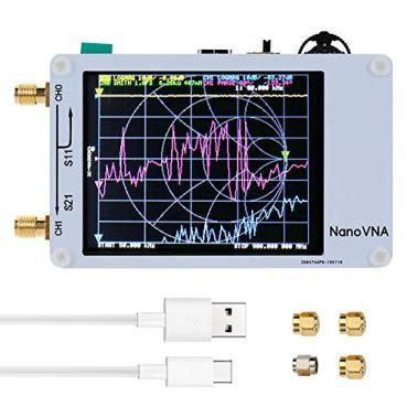 KKmoon ベクトルネットワークアナライザー DIY 50KHz-900MHz デジタルディスプレイ タッチスクリーン 短波MF HF VHF UHFアンテナアナライザー定在波
