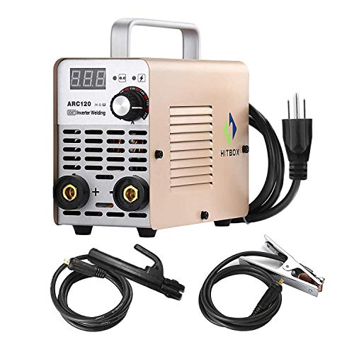 Stick Welder ARC120 DC 220V MMA Inverter Welding Machine Mini Portable Style 2.5mm Rod Stick Welder with Accessaries Earth Clamp Electrode