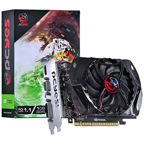 PLACA DE VIDEO GEFORCE NVIDIA GT 730 1GB GDDR5 128 BITS GAMING EDITION - PY730GT12801G5, PCYES, 28440