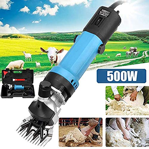 DMZH Sheep Shears Professional Electric Animal Grooming Clippers Professional Farm Engineering Tool for Sheep Alpacas Llamas and Large Thick Coat Animals, 6 Speeds 500W