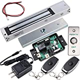 UHPPOTE Access Control Outswinging Door 600lbs Force Electromagnetic Lock & Remote Control Kit, Magnetic Lock with UL Listed