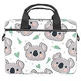 Cartoon Koala Laptop Bag 13.5-14 pulgadas Laptop Case Maletín Ordenador Maletín Notebook Sleeve Bolso de hombro Ligero Mensajero Escuela Trabajo Para Hombres Mujeres