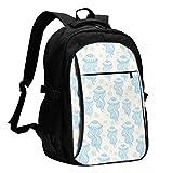 XCNGG Mochila USB con múltiples Bolsillos, Mochila Informal, Mochila Escolar Jellyfish Travel Laptop Backpack with USB Charging Port Multifunction Work School Bag