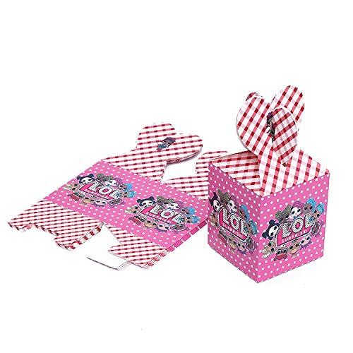 Image 2 - Qemsele boîtes de fête Sac de fête pour Enfant, 12 Pcs Repas boîtes en Carton uni Garçons Filles pour Thème Décorations Réutilisable Sac Cadeau de Fête Anniversaire Noël Sacs de fête (LOL)
