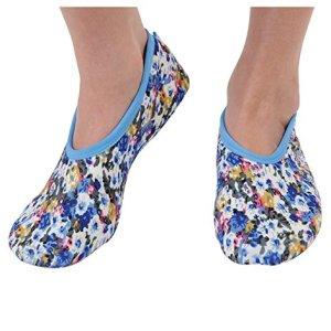 Snoozies Women's Lightweight Floral Plush Slipper Socks