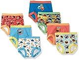 Sesame Street Boys' Toddler 7pk Potty Training Pant, 3T