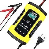 URAQT Chargeur de Batterie,Mainteneur 6A 12V Intelligent, Affichage LCD, Prise Standard Européenne...