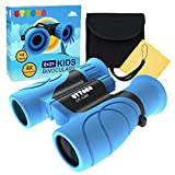 UTTORA Binoculars for Kids Toys Gifts for Age 4-12 Years Old Boys Girls Shock Proof Toy Magnification 8X21 Binoculars for Bird Watching,Educational Learning,Hunting,Hiking,Camping,Birthday Presents