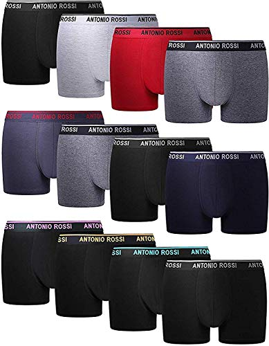 FM London HIPSTER, Calzoncillos para Hombre, Mulitcolor, X-Large, Pack of 12