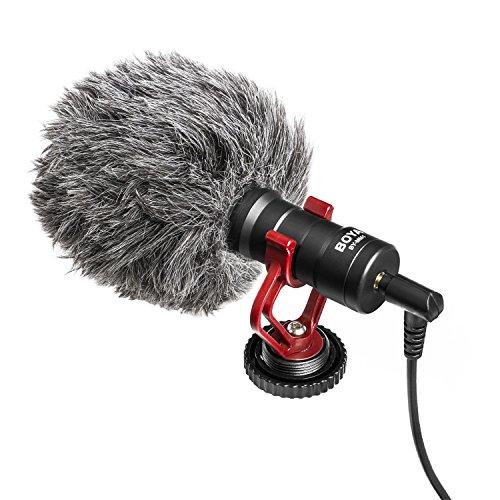 BOYA microfono cardioide shotgun universale per iPhone smartphone Mac tablet videocamera Canon DSLR