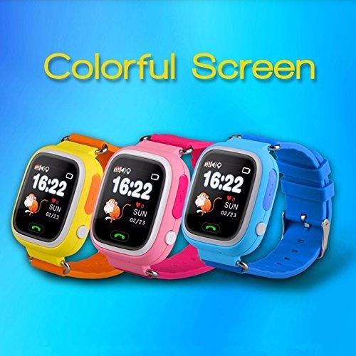 Smartwatch Watch Q90 kids Gps Finder for Elderly Children SOS Call Tracker Andorid IOS (BLUE)